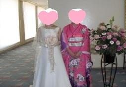 ピンクの着物と花嫁