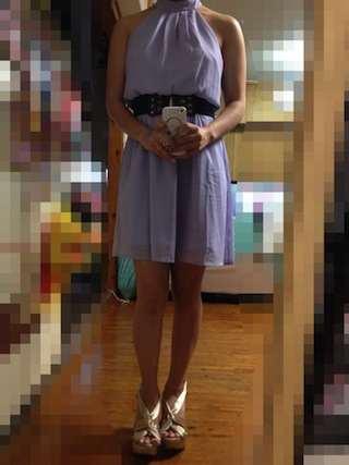 パステルパープルカラーのドレス