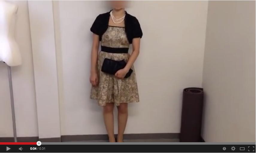 ゴールドドレスのコーディネート動画