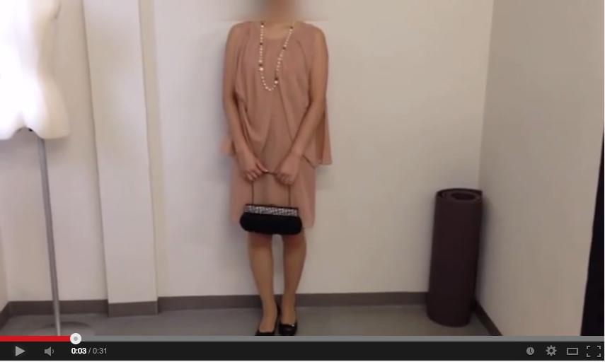 ピンクドレスのコーディネート動画