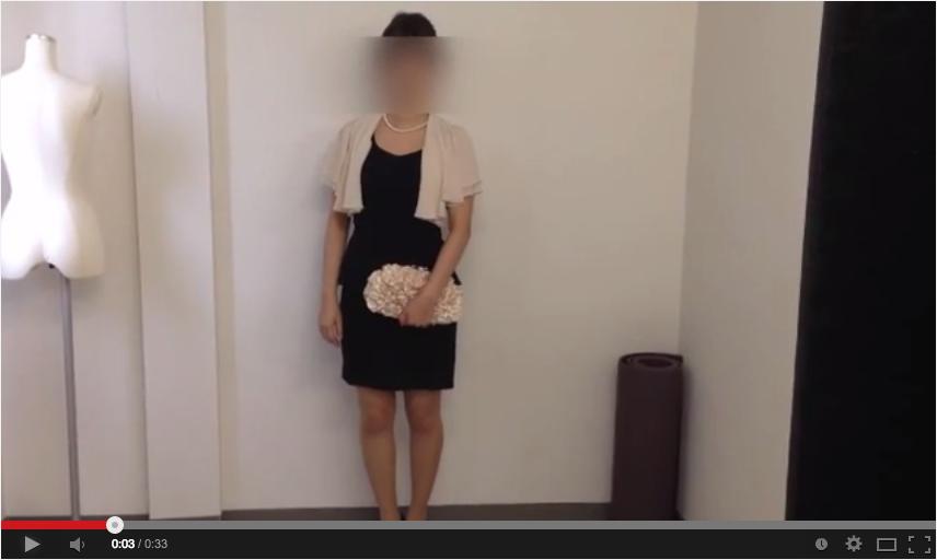 黒ドレスのコーディネート動画
