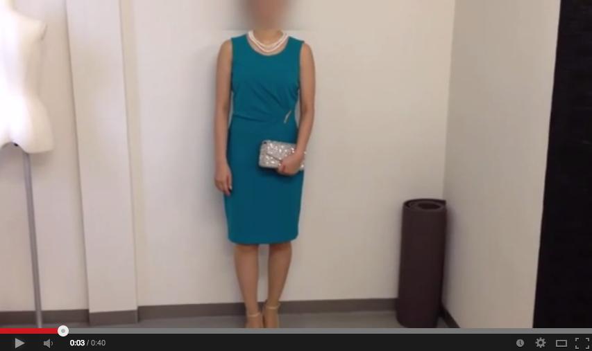 ターコイズブルードレスのコーディネート動画