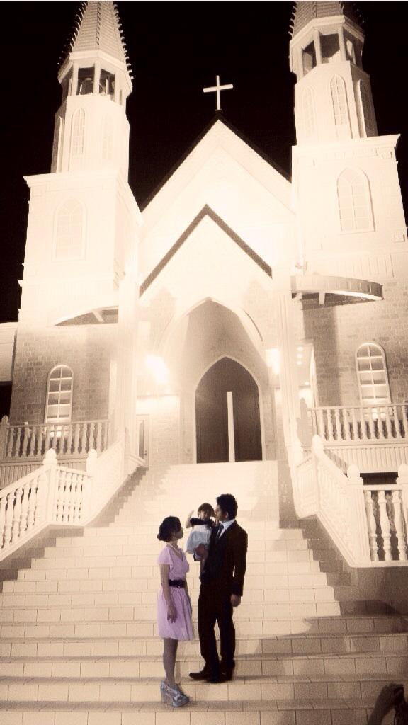 結婚式お呼ばれ家族写真