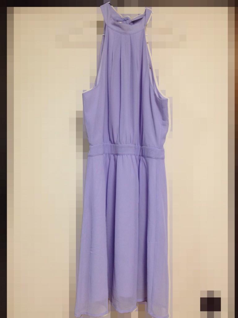 パステルパープルのドレス