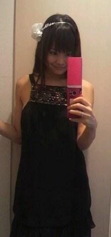 黒のセクシーワンピースドレス着画