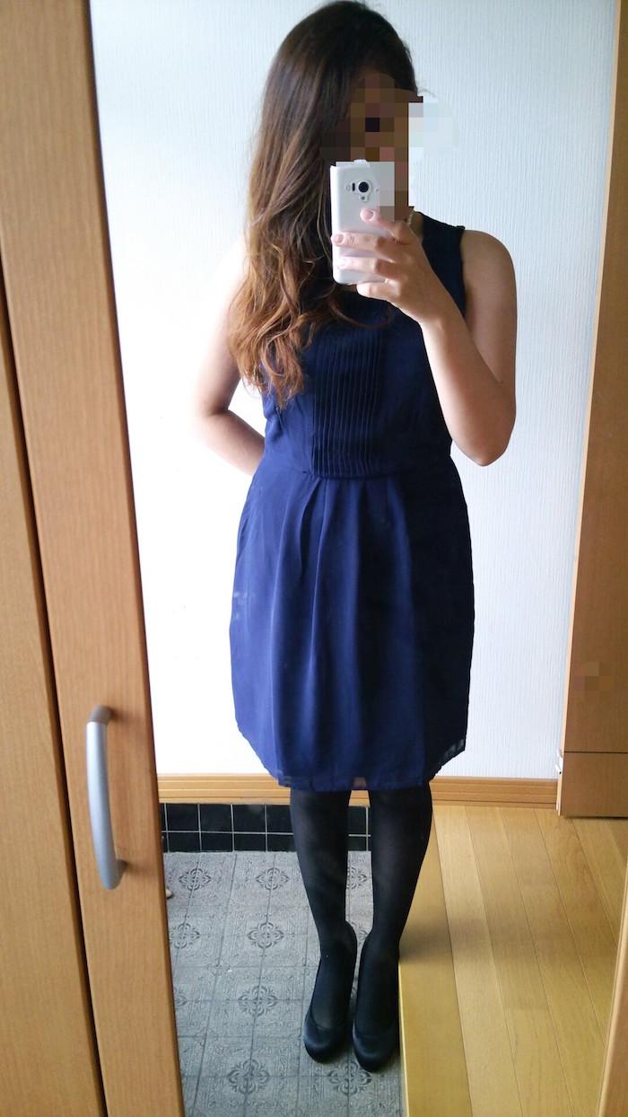フォーエバー21のネイビードレス