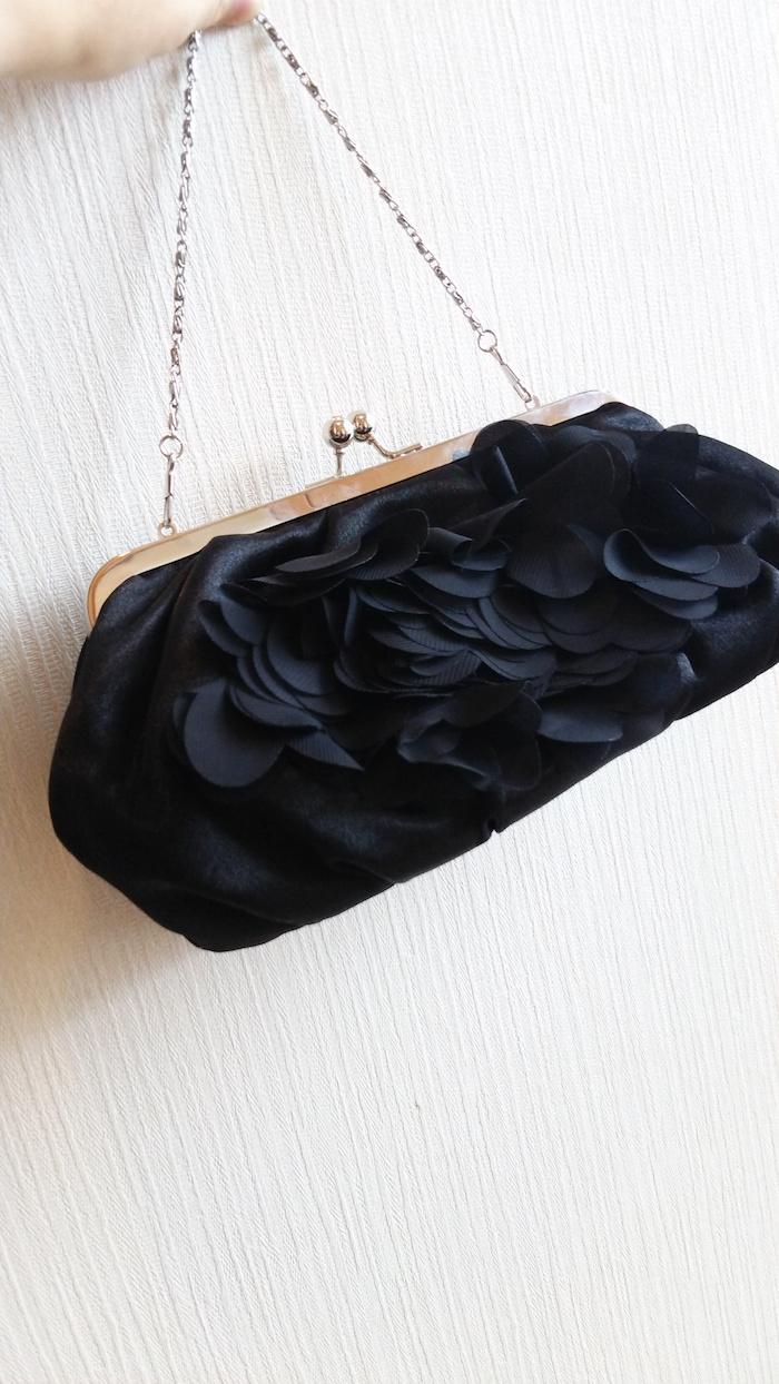黒のシフォンバッグ